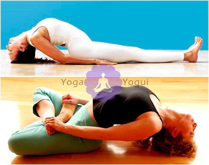 Postura de yoga el pez o matsyasana