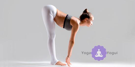 Postura de yoga Ardha Uttanasana